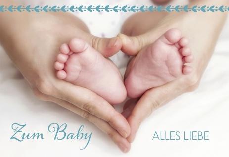 Glückwunschkarte Geburt Herz Hände Füße 6 St Kuvert Bibelwort Liebe Schutz Baby