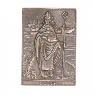 Namenstag Ulrich 8 x 6 cm Geschenk Bronzerelief Wandbild Schutzpatron