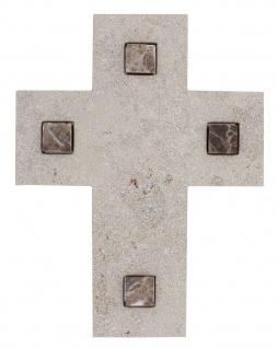 Wandkreuz Naturstein Inlays 17 cm Schmuckkreuz Naturstein Kruzifix Christlich