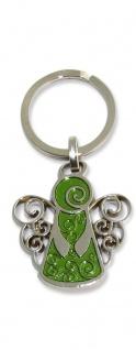 Schlüsselanhänger Schutzengel grün 7 cm Engel Anhänger