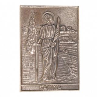 Namenstag Sabina Sabine 8 x 6 cm Bronzerelief Wandbild Schutzpatron