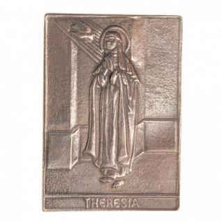 Namenstag Theresia 8 x 6 cm Bronzeplakette Bronzerelief Wandbild Schutzpatron - Vorschau