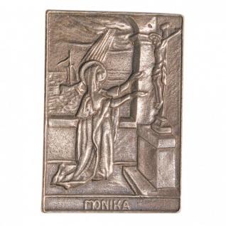 Namenstag Monika 8 x 6 cm Bronzeplakette Bronzerelief Wandbild Schutzpatron