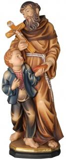 Heiliger Bruder Konrad von Parzham Holzfigur geschnitzt Südtirol Schutzpatron
