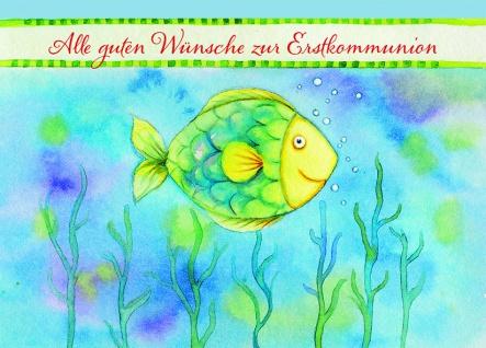 Kommunionkarte Gute Wünsche (6 St) Glückwunschkarte Erstkommunion Grußkarte