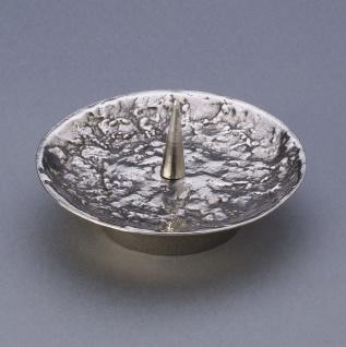 Kerzenleuchter 11 cm Neusilber rund für Ø 7 cm Kerze Kerzenhalter