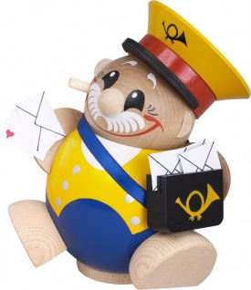 Räuchermännchen Postbote 12 cm Seiffen Erzgebirge Handarbeit Holzfigur