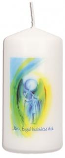 Stumpenkerze Dein Engel beschütze dich mit Druckmotiv 10 cm