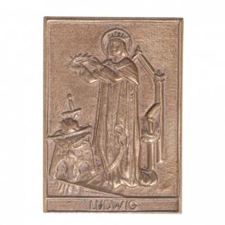 Namenstag Ludwig 8 x 6 cm Geschenk Bronzerelief Wandbild Schutzpatron