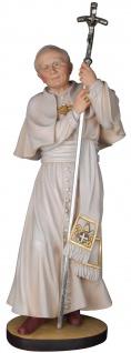 Heiliger Johannes Paul II. Papst Holzfigur geschnitzt Südtirol Schutzpatron