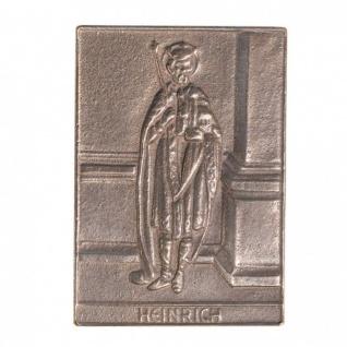 Namenstag Heinrich 8 x 6 cm Bronzeplakette Bronzerelief Wandbild Schutzpatron
