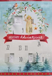 Adventskalender-Karte Achtsame Adventszeit (6 Stück) Grußkarten Weihnachtskarte