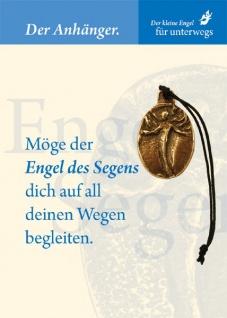 Engel des Segens Bronzeplakette mit Kärtchen und Kordel Schutzengel Geschenke