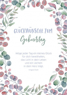 Postkarte Geburtstag 10 St Adressfeld Irmgard Erath Gratulation Lebenjahr Glück