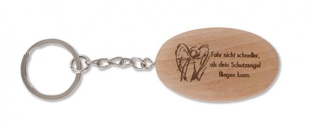 Schlüsselanhänger Schutzengel, Holz Organzabeutel Engel Anhänger