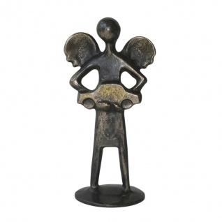 Bronzeskulptur Autofahrer-Schutzengelchen 12 cm Bronzeengel