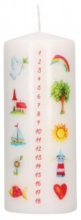 Stumpenkerze Geburtstag Tischkerze liebevoll gestaltet verschiedene Motive 15 cm