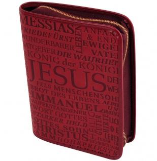 Gotteslobhülle Jesus Christus Kunstleder Rot Gesangbuch Einband Katholisch
