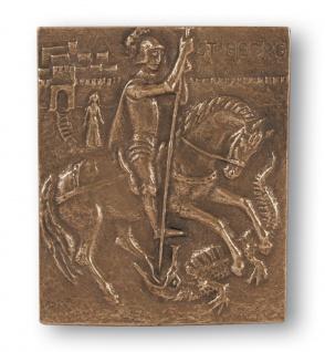 Namenstag Georg Bronzeplakette 13x10 cm Namenspatron