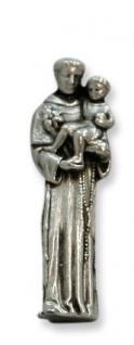 Heiliger Antonius für die Reise Hülle glasklar 3 cm Heiligenfigur Begleiter