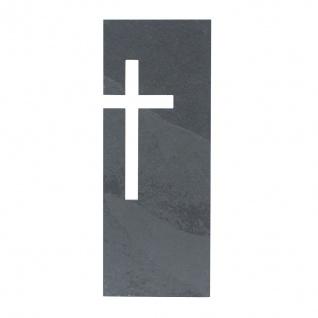 Wandkreuz Schiefer Motiv Kreuz 23 x 9 cm Kruzifix Christlich