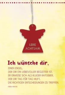 Grußkarte Achtsamkeit Engel-Anhänger Gisela Baltes 5 St Kuvert Acrylglas Begleiter