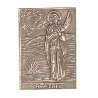 Namenstag Beatrix 8 x 6 cm Bronzeplakette