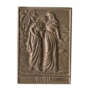 Namenstag Ruth 8 x 6 cm Bronzeplakette Bronzerelief Wandbild Schutzpatron