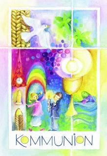 Kommunionkarte Erstkommunion Bibelwort Genesis (6 St) Glückwunsch Grußkarte
