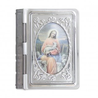 Rosenkranz Etui Bibelformat 5 cm Jesus Christus Kommunion Schmuckschatulle