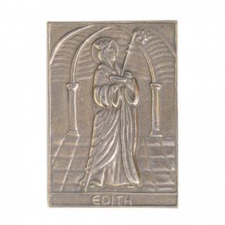 Namenstag Edith 8 x 6 cm Bronzeplakette Bronzerelief Wandbild Schutzpatron