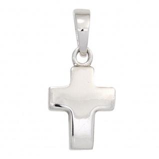 Anhänger Kreuz 925 Sterling Silber rhodiniert Schmuckkreuz
