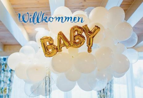 Glückwunschkarte zur Geburt Willkommen Baby (6 Stück) mit Kuvert Grußkarte