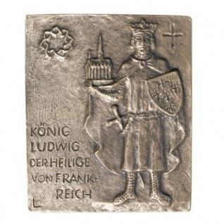 Namenstag Ludwig von Frankreich 13 x 10 cm Bronzerelief Wandbild Schutzpatron