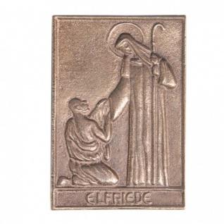 Namenstag Elfriede 8 x 6 cm Bronzeplakette Bronzerelief Wandbild Schutzpatron