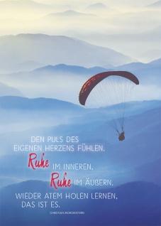 Postkarte Ruhe (10 St) Fallschirmgleiter Christian Morgenstern Grußkarte