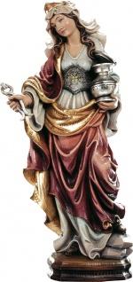 Heilige Apollonia Heiligenfigur Holz geschnitzt Schutzpatronin Märtyrerin
