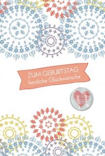 Glückwunschkarte Geburtstag Glückwünsche Magnet Herz 5 St Kuvert Glück Segen