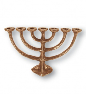 Menora 17 cm Bronze jüdische Kerzenleuchter Kerzenhalter
