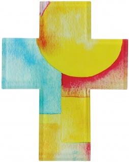 Schmuckkreuz Kreuz aus Glas 14, 5 cm Wandkreuz Kruzifix Aufhängung