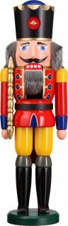 Nussknacker König rot 50 cm Holz-Figur Handarbeit aus Seiffen im Erzgebirge