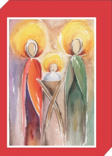 Weihnachtskarten Geschenkbox Weihnachten Klappkarten Kuvert 4 Motive á 2 Karten