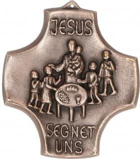 Kommunion Kreuz Kruzifix Bronze Jesus Segen Hans-Peter Fonteyne
