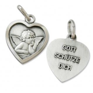 Engel Anhänger Herz Schmuck Gott schütze Dich 1, 4 cm Religiöser Schmuck