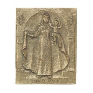 Namenstag Maria Bronzeplakette 13x10 cm Namenspatron