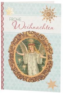 Glückwunschkarte Frohe Weihnachten (6 St) Weihnachtsengel Grußkarte Kuvert