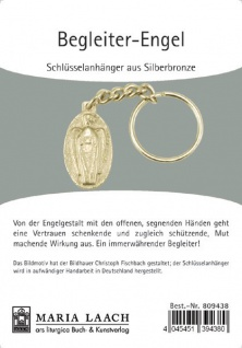 Schlüsselanhänger Begleiter-Engel Silberbronze 2, 7 cm Engel Anhänger