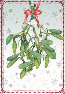 Glückwunschkarte Zauberhafte Winterzeit (6 St) Mistelzweig Grußkarte Kuvert