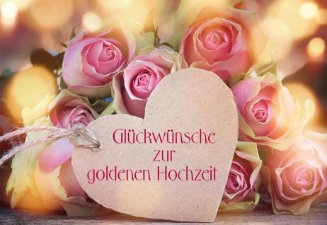 Glückwunschkarte Goldene Hochzeit Adalbert Ludwig Balling 6 St Kuvert Jubiläum