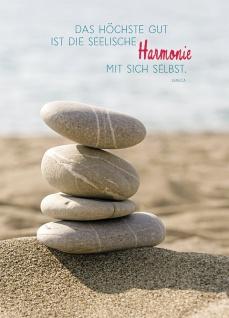 Postkarte Harmonie (10 St) Steine Seneca Grußkarte